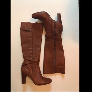 Cole Haan Brown Leather Heeled Boots